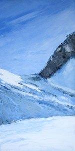 Combe froide - huile sur toile - 40x80cm - collection particulière