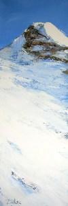 Hors-Piste N°1 - huile sur toile - 30x90cm - collection particulière