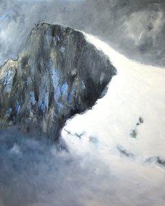 Un sommet (Parc national des Écrins) - huile sur toile - 162x130cm - collection particulière