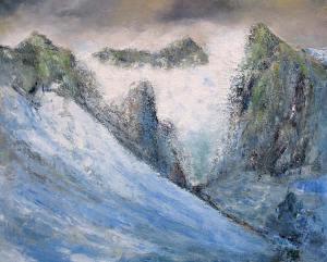 Le cirque glacière de la Solitude (Monte Falo) - huile sur toile - 162x130cm - collection particulière