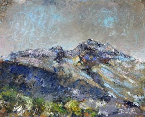 Tête-de-Fer (Massif des Encombres - Tarentaise) huile sur toile - 41x33cm