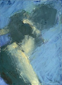 Reflet 3 - huile sur toile - 33x24cm -  collection particulière