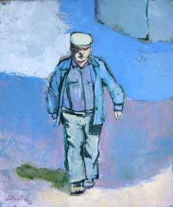 Au village - oil on canvas - 55x46cm - collection particulière