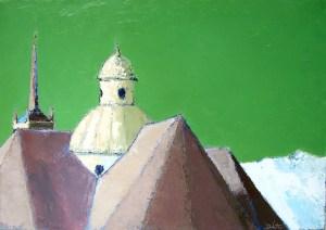 Notre-Dame-de-la-vie (Saint-Martin-de-Belleville) - oil on canvas - 92x65cm