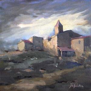 Sainte-Jalle - oil on canvas - 20x20cm - collection particulière