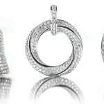 Trio of Pave Diamonds