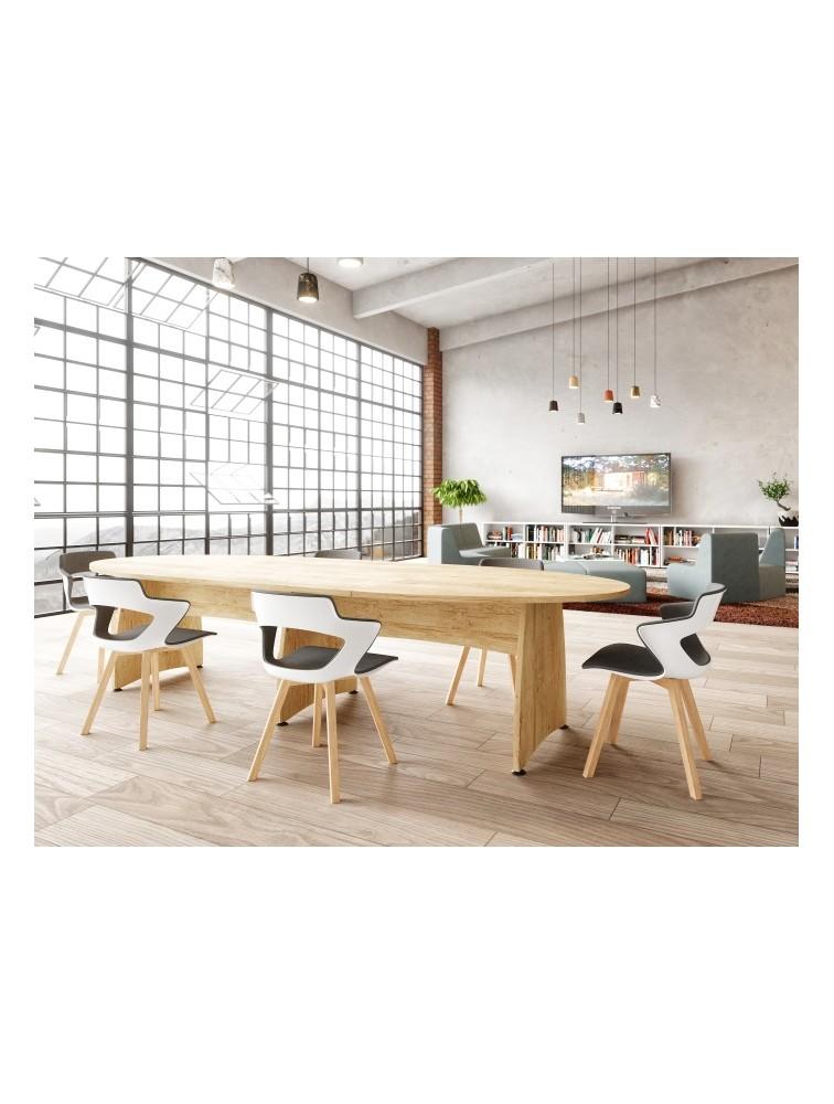table de reunion modulable ensemble ovale