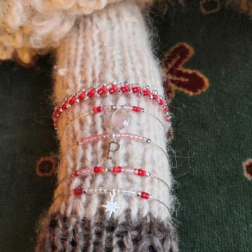 Bracelets Jenny :  joncs et tissage St Petersbourg