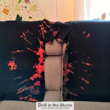 Tee-shirts tie and dye en miroir