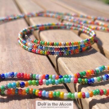Bracelet multicolore rocaille