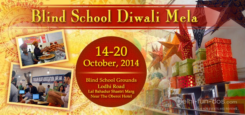 Blind School Diwali Mela has started from 14th October 2014