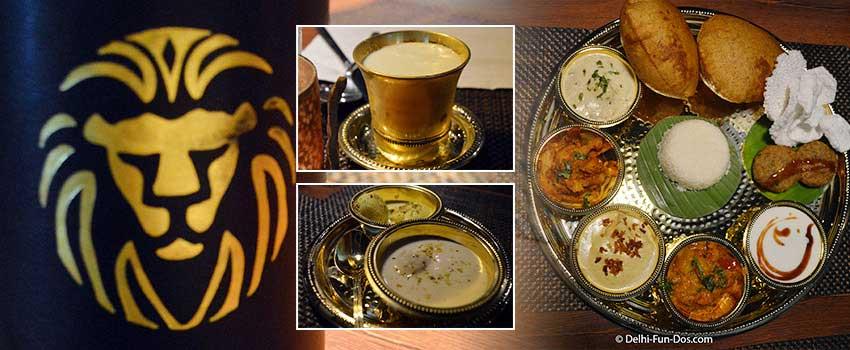 Navratri Thali at Punjab Grill