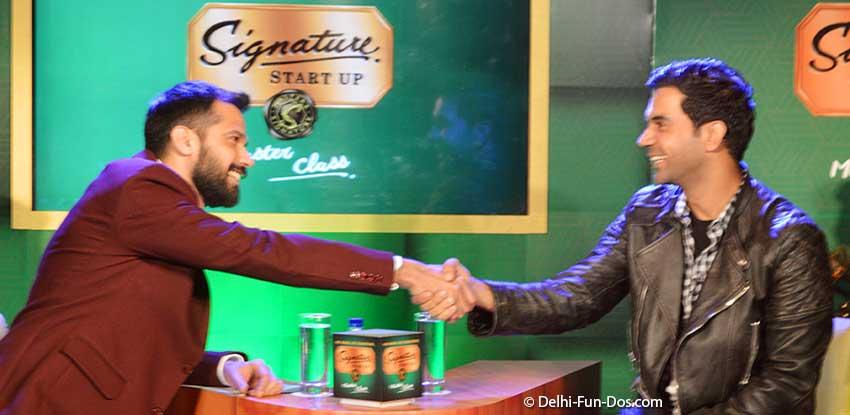 Rajkummar Rao in Signature Start Up Masterclass