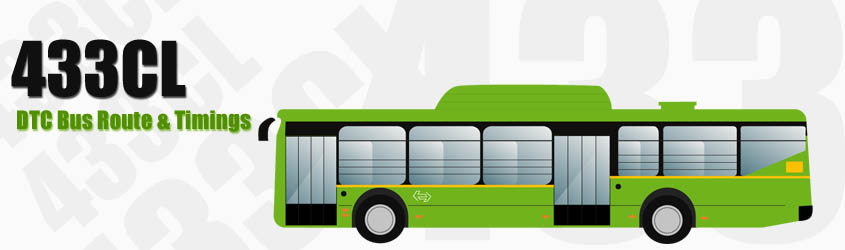 433CL Delhi DTC City Bus Route and DTC Bus Route 433CL Timings with Bus Stops