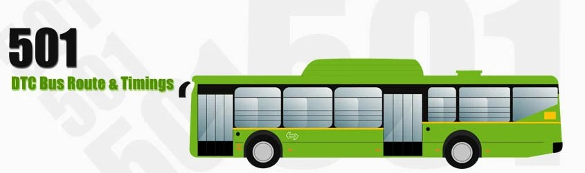 501 Delhi DTC City Bus Route and DTC Bus Route 501 Timings with Bus Stops