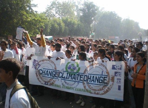 Global Day of Climate Action at the University of Delhi