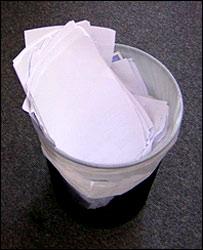 Paper in the Bin