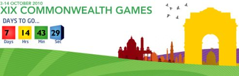 Commonwealth Games 2010 countdown