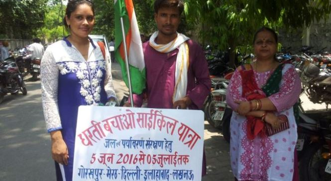Dharti Bachao Cycle Yatra Reaches Faizabad
