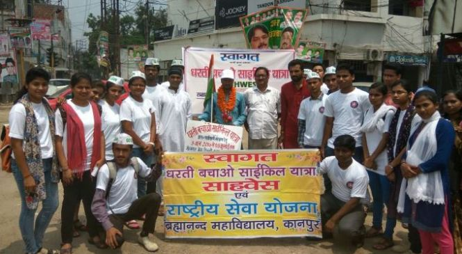 Month Long Dharti Bachao Cycle Yatra Concludes at Lucknow