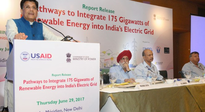 Release of Report on Integrating 175 Gigawatt Renewable Energy in India