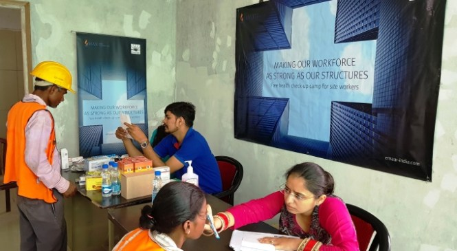 Emaar India Conducts Health Camp for its Labour Force in Gurugram