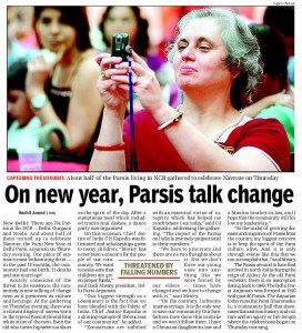 DPA Navroze 2010 Celebrations. An article in Times of India