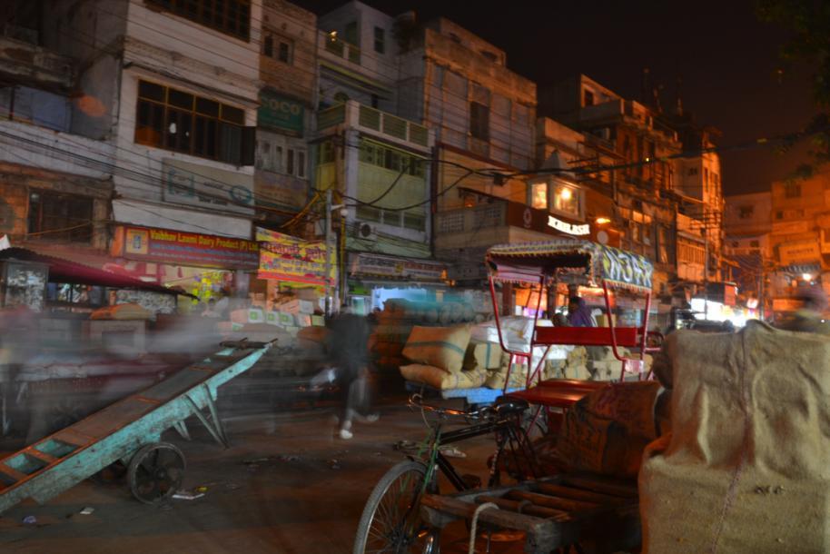 Delhi spice market at night