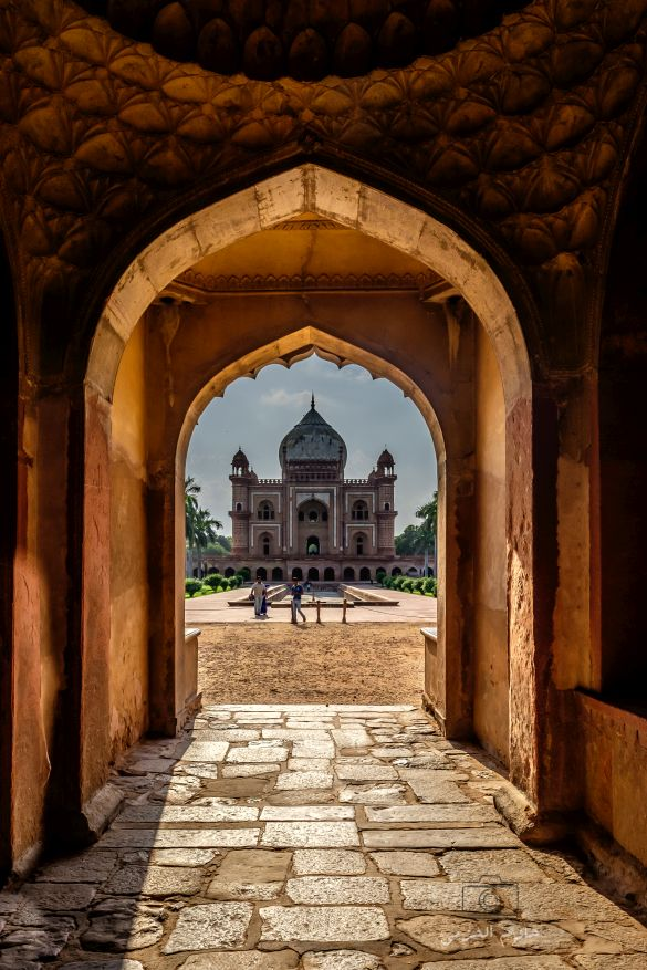 Safdarjung Tomb viewed through it's gate