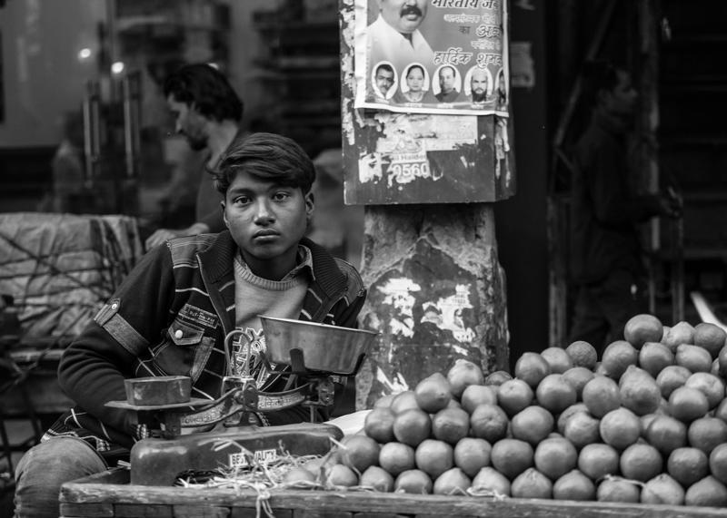A fruit seller