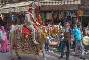 Picture of a groom in Old Delhi
