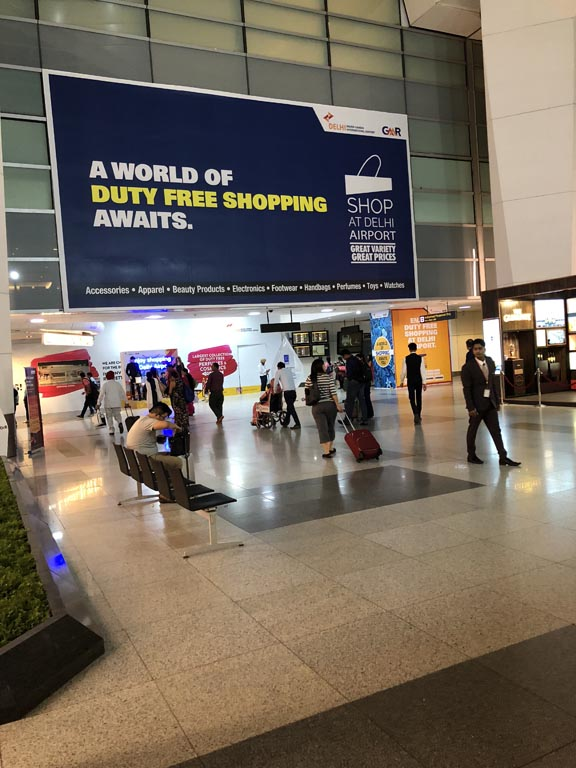 Delhi Airport entrance to duty free