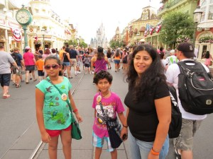 Magic kingdom with family