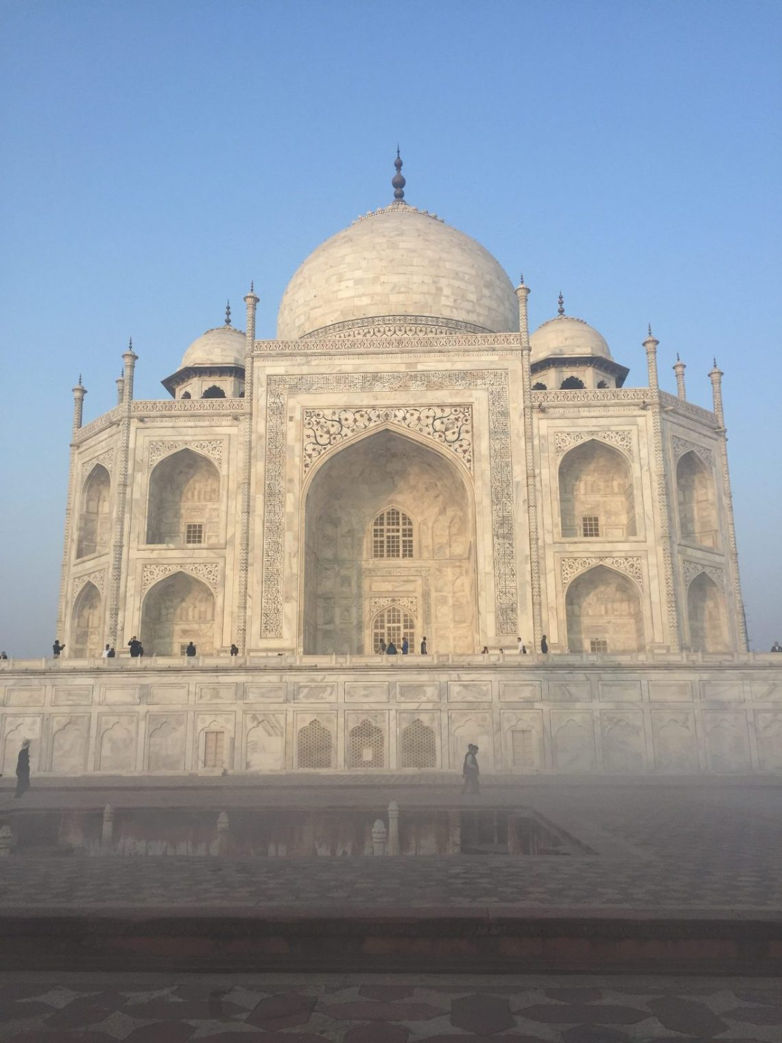 Taj Front in the fog