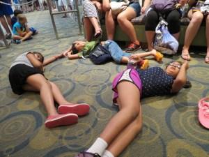 Tired kids