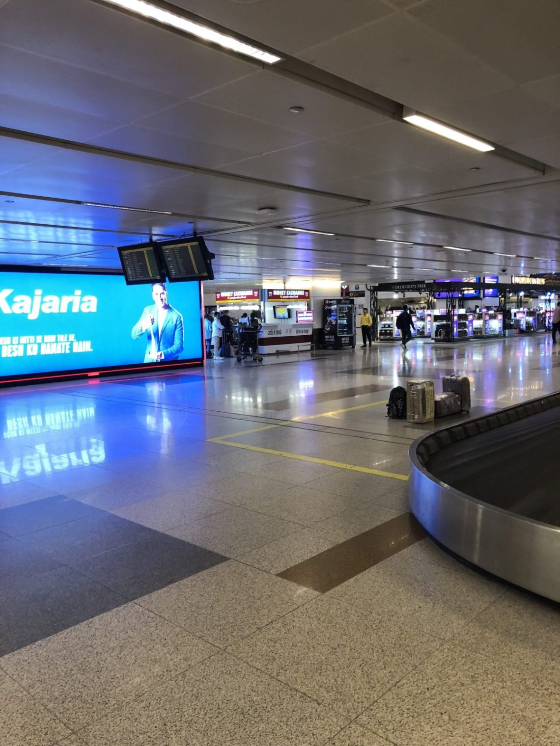 Baggage belts marked on screen