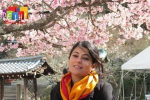 Ketaki with Cherry blossoms