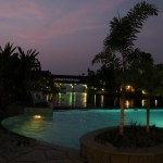 Kumarakom Zuri resort at night