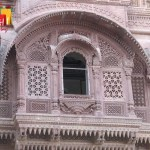 Mehrangarh Ornate stone work on windows