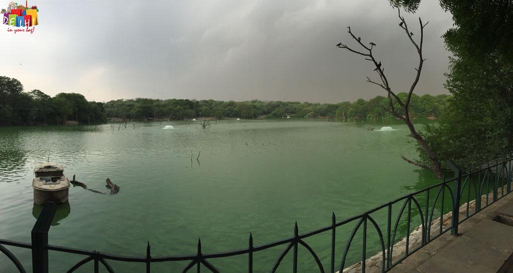 The lake at Hauz Khas