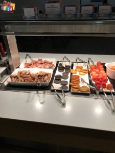 Breakfast spread at BA first lounge at Heathrow Terminal 3