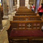 Coptic Cross on chairs