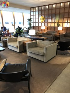 Furniture at Cathay Pacific first class Lounge Heathrow Terminal 3