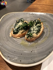 Mushroom Toast at Cathay Pacific first class Lounge Heathrow Terminal 3