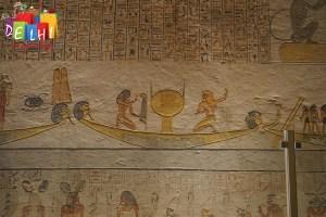 Preserved hieroglyphics Ramses IX
