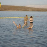 Floating in the dead sea Kalia beach