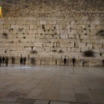 Jerusalem wailing wall at night