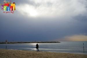 Tel Aviv Beach Promenade Sunset