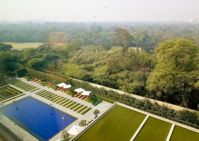Pool at The Oberoi Hotel, New Delhi
