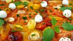 Pizza di pasta sfoglia - Torta Salata auf Blätterteig